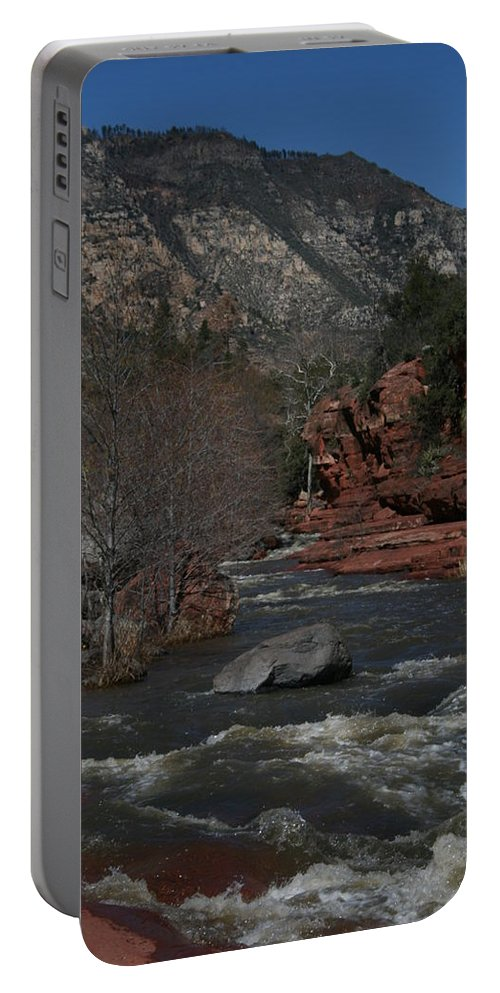 Oak Creek Portable Battery Charger featuring the photograph Oak Creek Surging by Grant Washburn