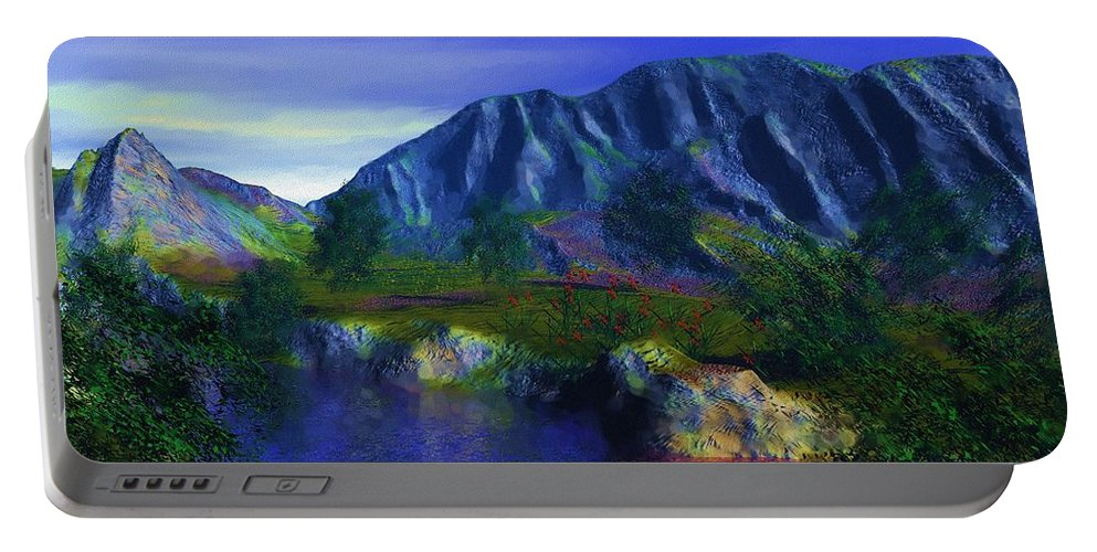 Fine Art Portable Battery Charger featuring the digital art Oasis by David Lane
