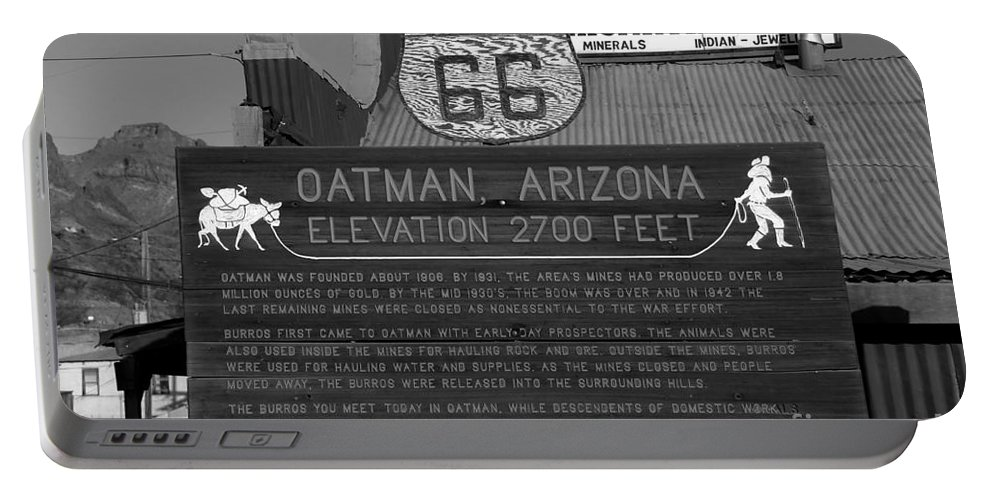 Oatman Arizona Portable Battery Charger featuring the photograph Oatman Arizona by David Lee Thompson
