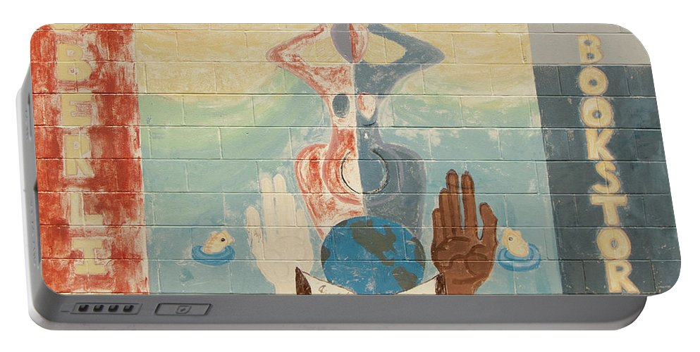 Urban Art Portable Battery Charger featuring the photograph Oberlin Bookstore by Diane Schuler