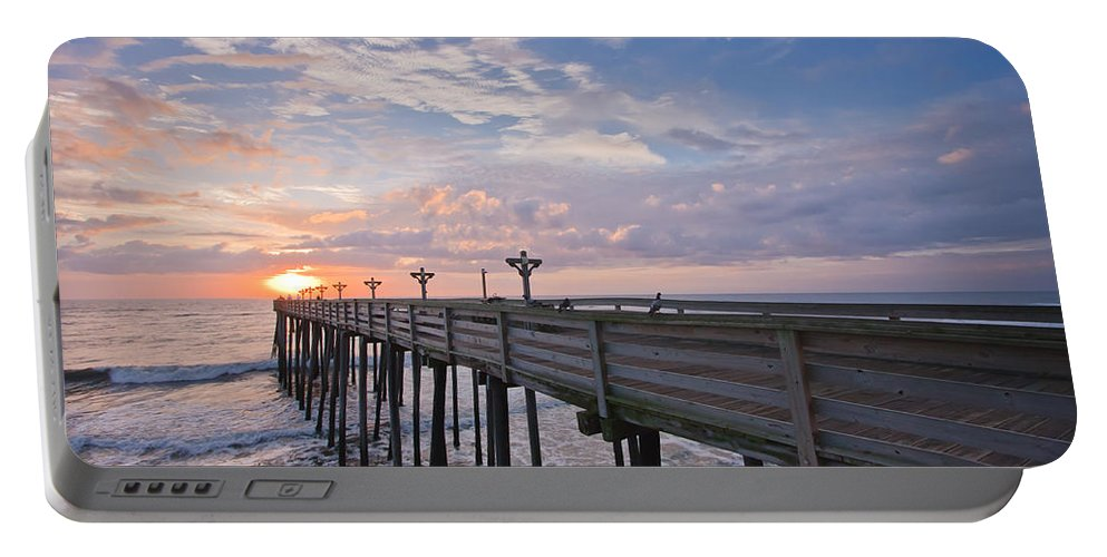 Atlantic Portable Battery Charger featuring the photograph Obx Sunrise by Adam Romanowicz