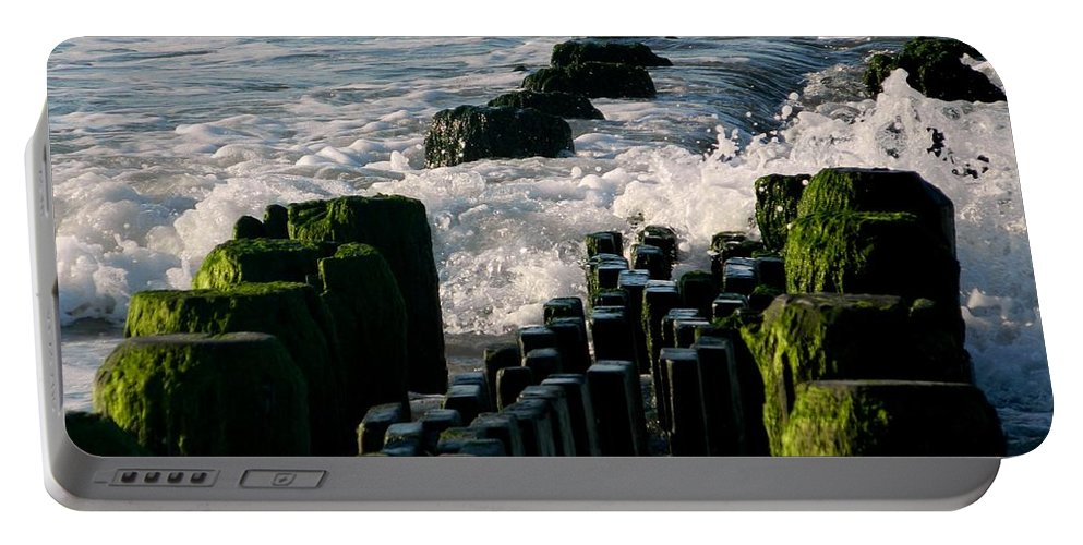 Water Portable Battery Charger featuring the photograph Ocean Breezes by Arlane Crump