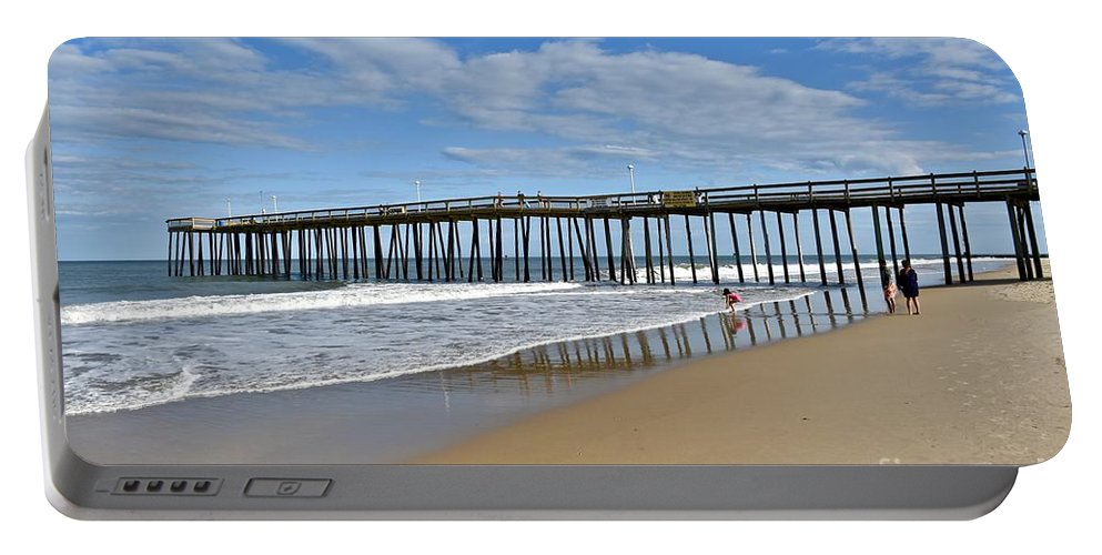 Beach Portable Battery Charger featuring the photograph Ocean City Pier by Jeramey Lende