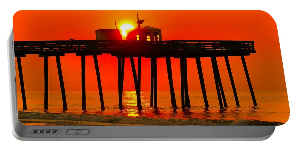 Beach Portable Battery Charger featuring the photograph Ocean City Sunrise by Nick Zelinsky