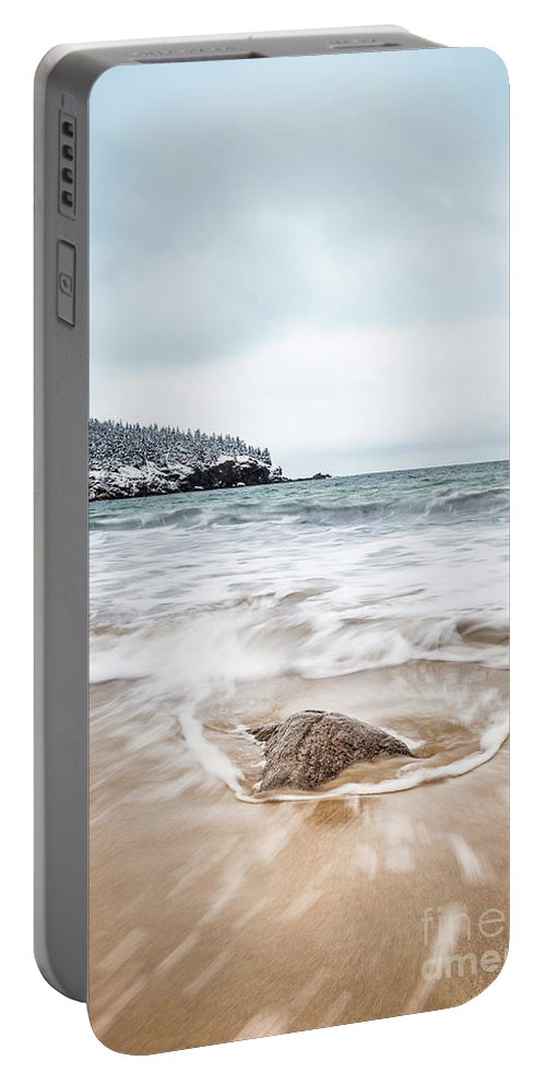 Kremsdorf Portable Battery Charger featuring the photograph Ocean Flows by Evelina Kremsdorf