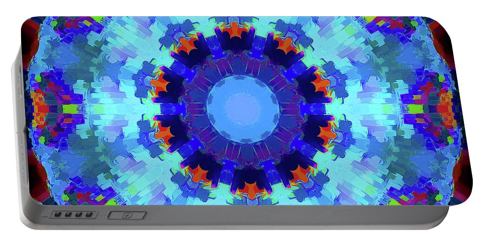 Mandala Art Portable Battery Charger featuring the painting Ocean by Jeelan Clark