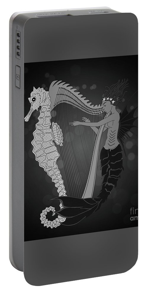 Keywords Portable Battery Charger featuring the digital art Ocean Lullaby2 by Megan Dirsa-DuBois