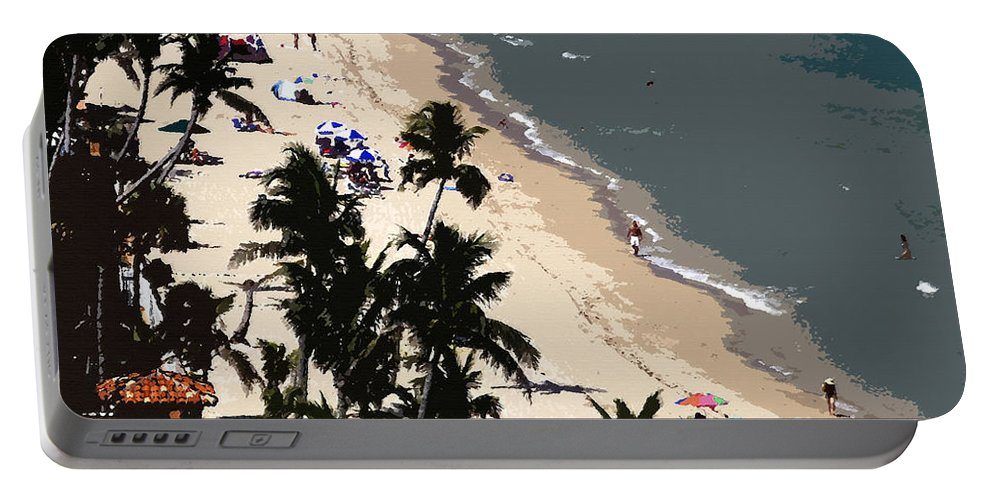 Art Portable Battery Charger featuring the painting Ocean Paradise by David Lee Thompson