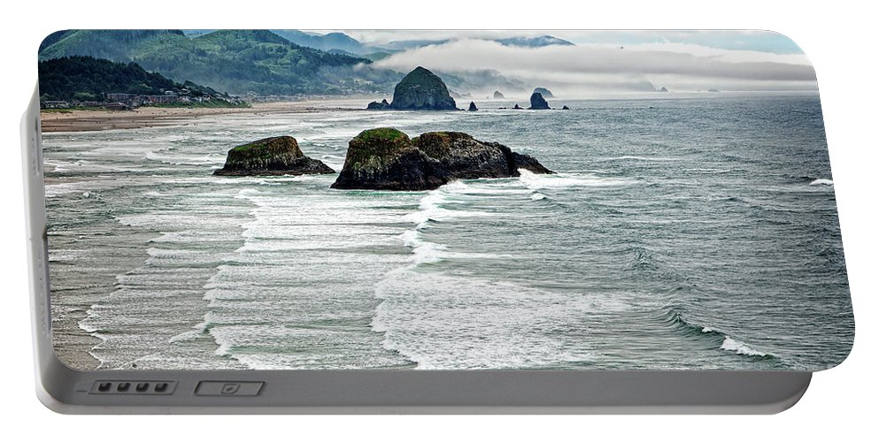 Coast Portable Battery Charger featuring the photograph Ocean Rocks Off The Oregon Coast by Lincoln Rogers