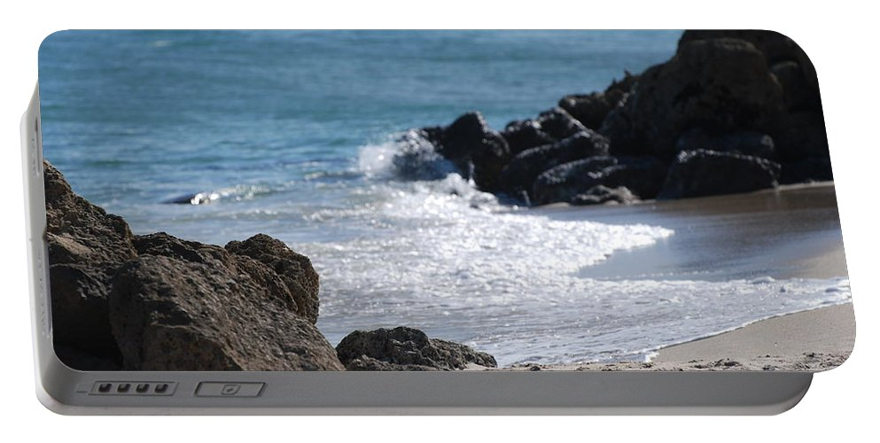 Sea Scape Portable Battery Charger featuring the photograph Ocean Rocks by Rob Hans