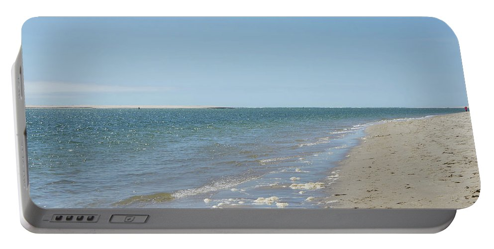 Chatham Portable Battery Charger featuring the photograph Ocean View From The Beach In Chatham by Adam Gladstone