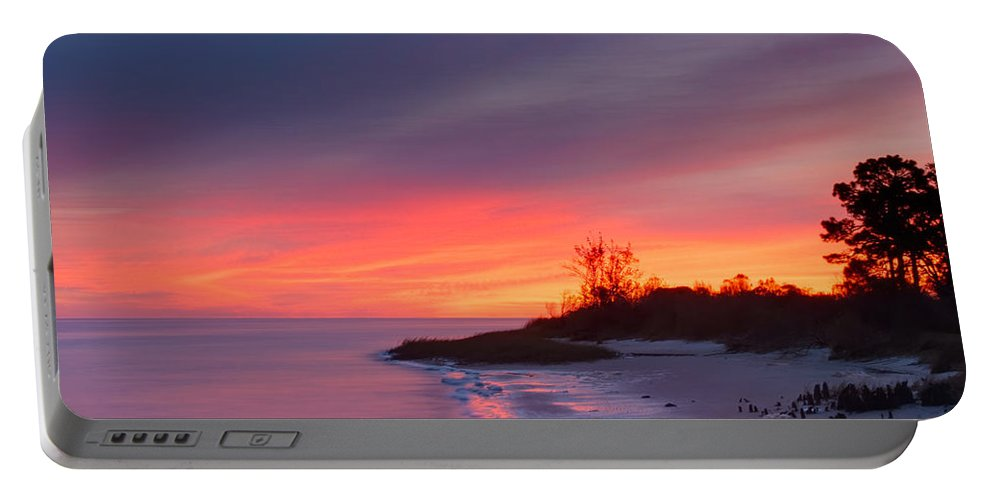 Sunrise Portable Battery Charger featuring the photograph Ochlockonee Bay Sunrise by Rich Leighton