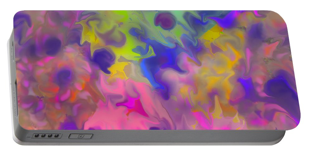 Abstract Portable Battery Charger featuring the digital art October by Ian MacDonald