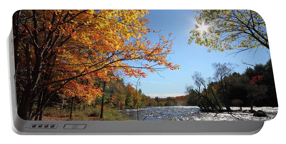 Autumn Portable Battery Charger featuring the photograph October Light by Mircea Costina Photography