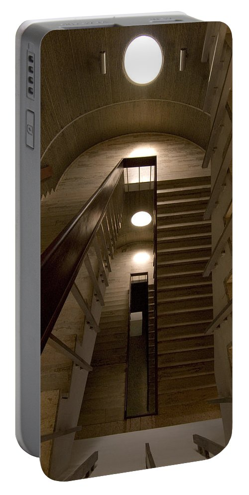 Stair Portable Battery Charger featuring the photograph Oculus 2 by Robert Ponzoni