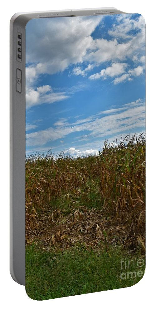 Maryland Portable Battery Charger featuring the photograph Of The Corn by Lisa Kleiner