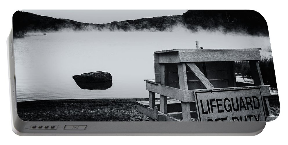Lake Waramaug Portable Battery Charger featuring the photograph Off Duty by Grant Dupill