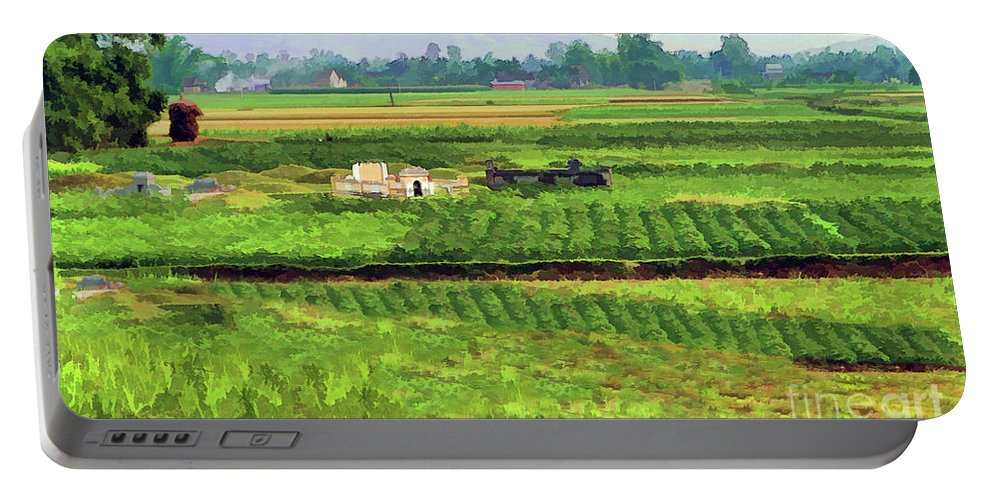 Vietnam Portable Battery Charger featuring the photograph Off The Beaten Track Vietnam Viewed Through Train Window Filters by Chuck Kuhn