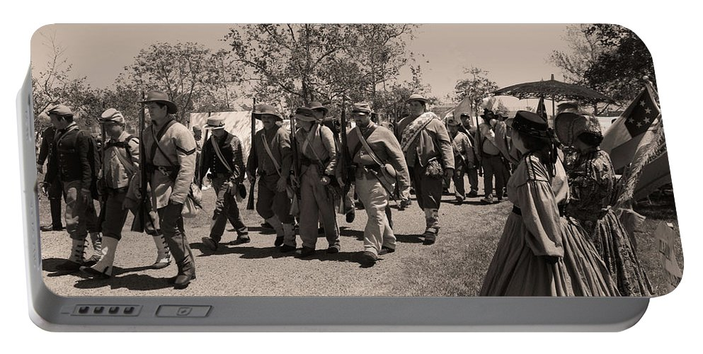 Civil War Portable Battery Charger featuring the photograph Off To Battle by Tommy Anderson