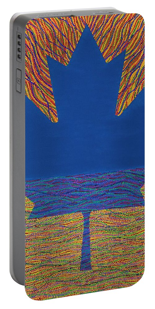 Modern Portable Battery Charger featuring the painting Oh Canada 2 by Kyung Hee Hogg
