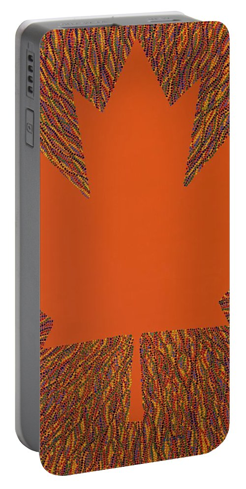 Oh Canada Portable Battery Charger featuring the painting Oh Canada 5 by Kyung Hee Hogg