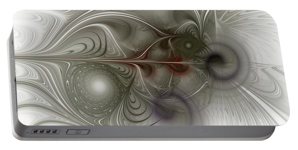Spiritual Portable Battery Charger featuring the digital art Oh That I Had Wings - Fractal Art by NirvanaBlues