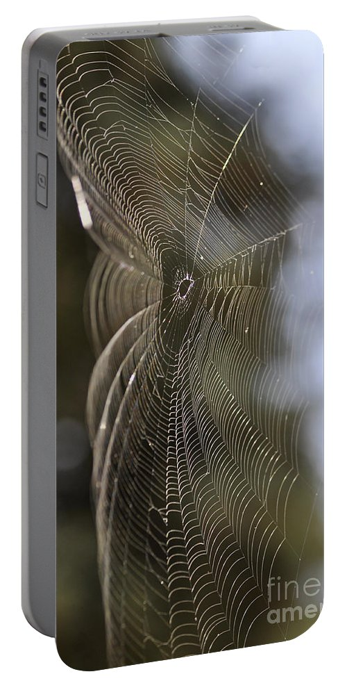 Clay Portable Battery Charger featuring the photograph Oh What Webs We Weave by Clayton Bruster