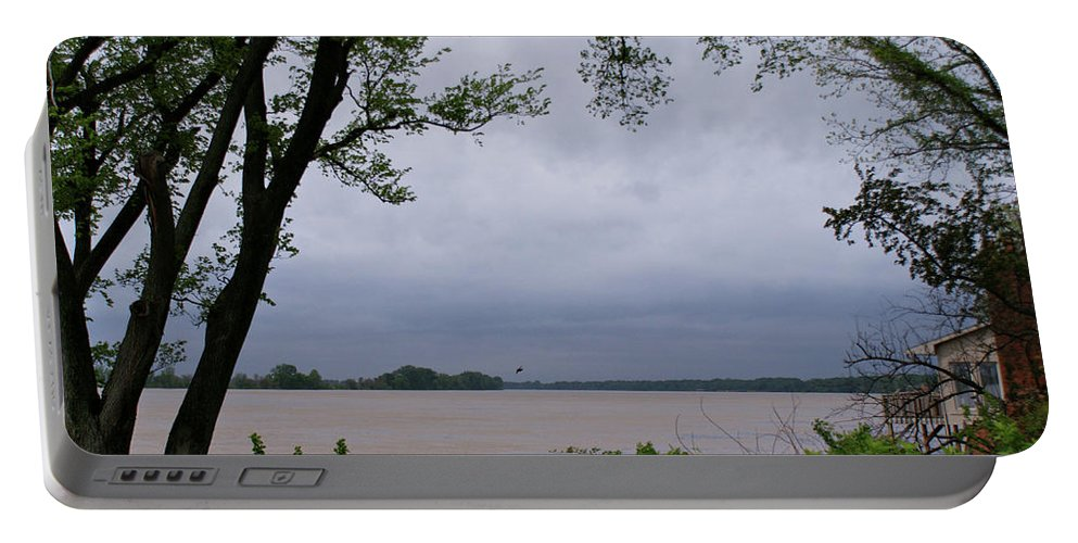 Ohio River Portable Battery Charger featuring the photograph Ohio River by Sandy Keeton