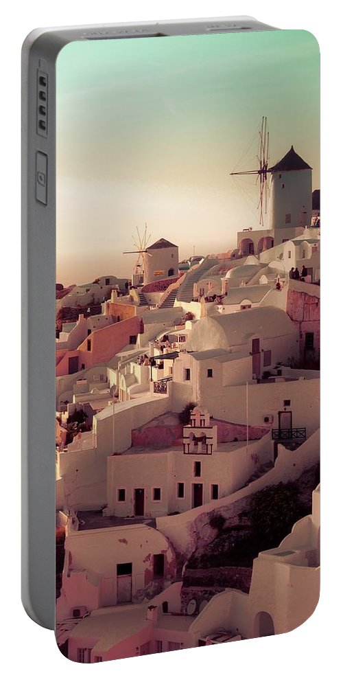 Sunset Portable Battery Charger featuring the photograph Oia Sunset by Debra Cox