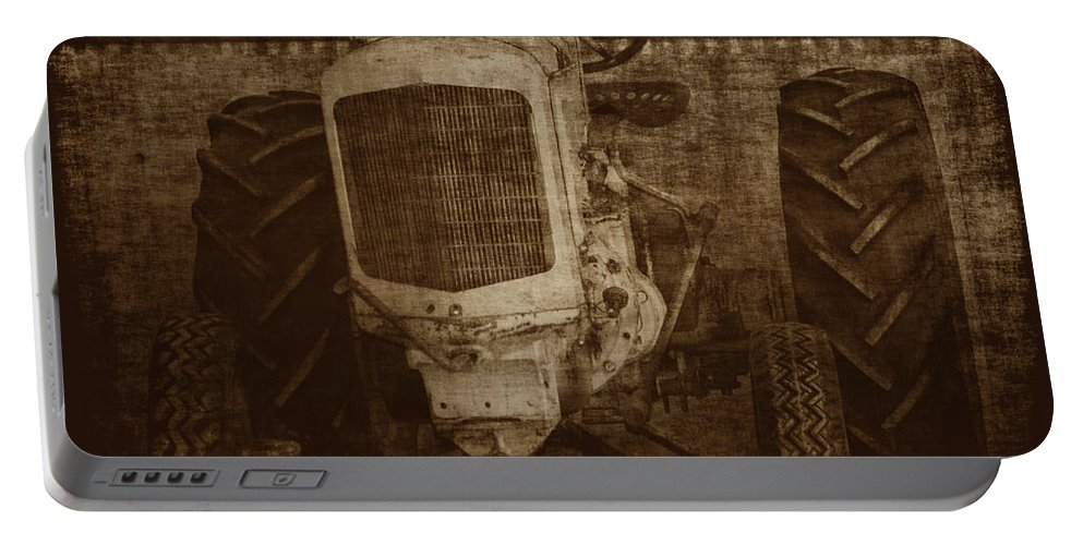 Crank Tractors Portable Battery Charger featuring the photograph Ol Yeller In Sepia by Ernie Echols