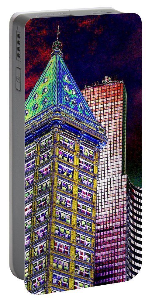 Seattle Portable Battery Charger featuring the photograph Old And New Seattle 2 by Tim Allen