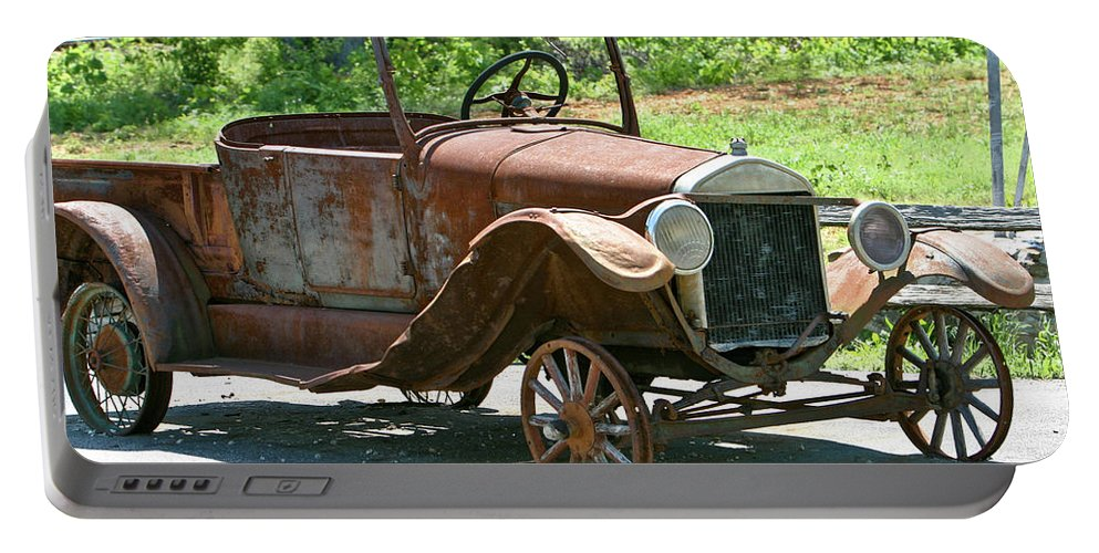 Old Portable Battery Charger featuring the photograph Old Antique Vehicle by Douglas Barnett