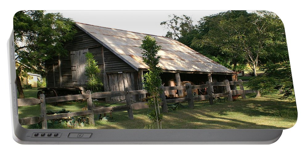 Photo Portable Battery Charger featuring the photograph Old Barn by Brian Leverton