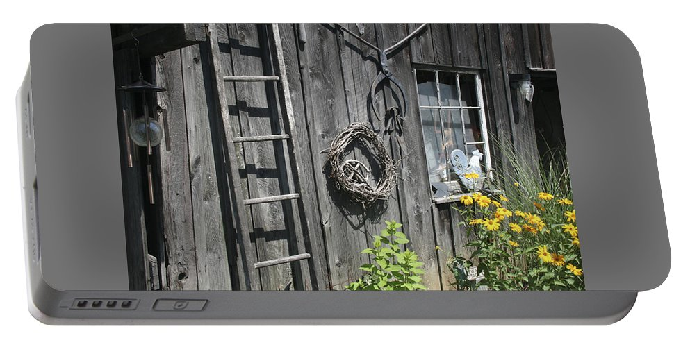 Barn Portable Battery Charger featuring the photograph Old Barn II by Margie Wildblood