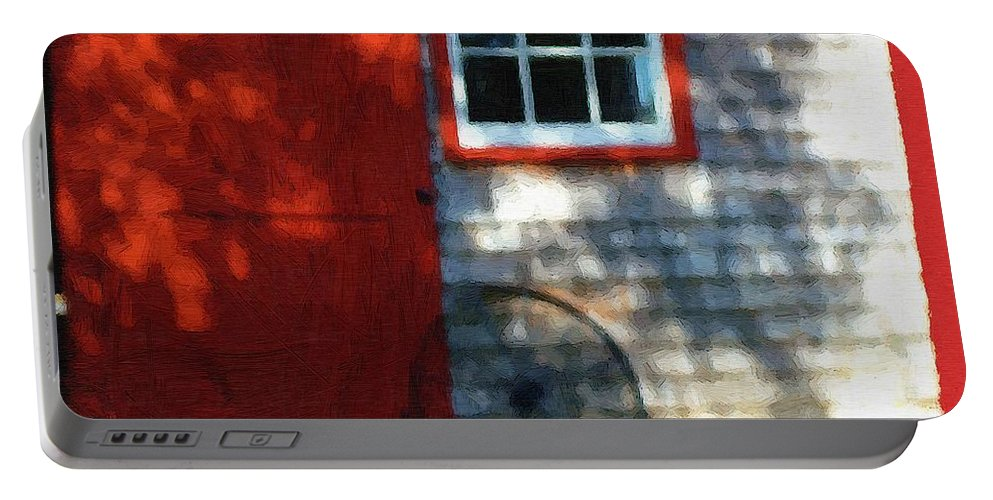 Autumn Portable Battery Charger featuring the painting Old Barn New Paint by RC DeWinter