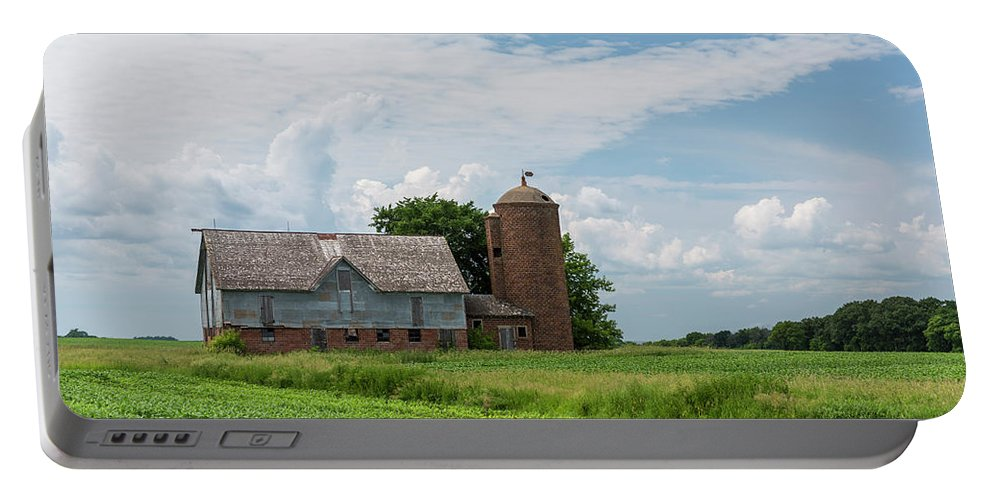 Barn Portable Battery Charger featuring the photograph Old Barn Country Scene 4 B by John Brueske