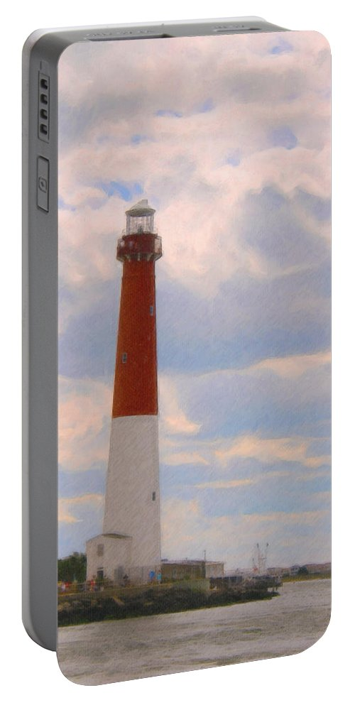 Barnegat Portable Battery Charger featuring the digital art Old Barney by Paul Gioacchini