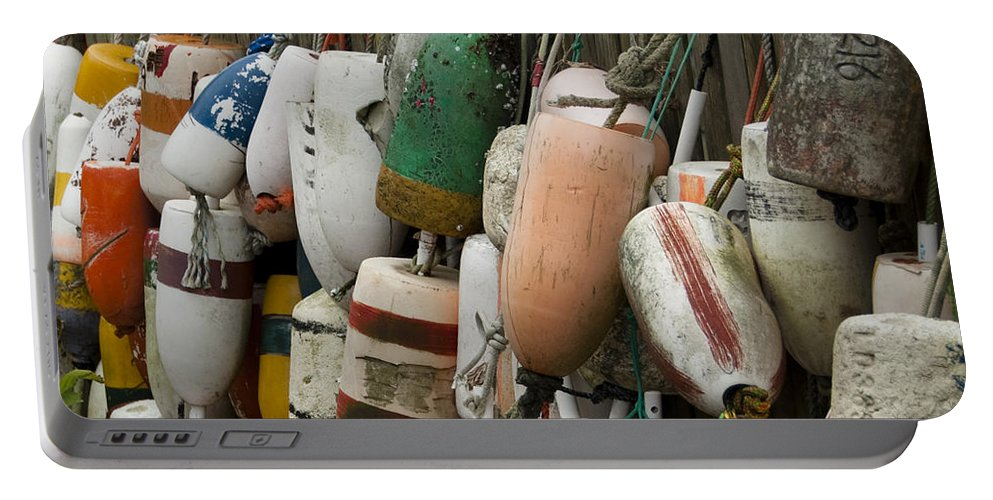 Bouys Portable Battery Charger featuring the photograph Old Buoys Hanging Out by Steven Natanson