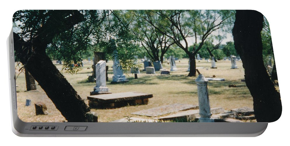 Graves Cementery Trees Shade Portable Battery Charger featuring the photograph Old Cementery by Cindy New