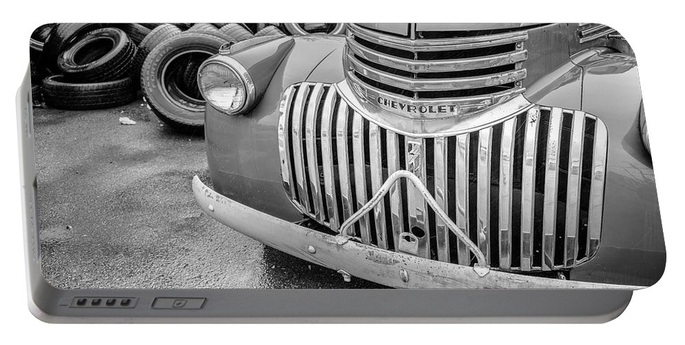 Chevy Portable Battery Charger featuring the photograph Old Chevy Pickup by Jim Love