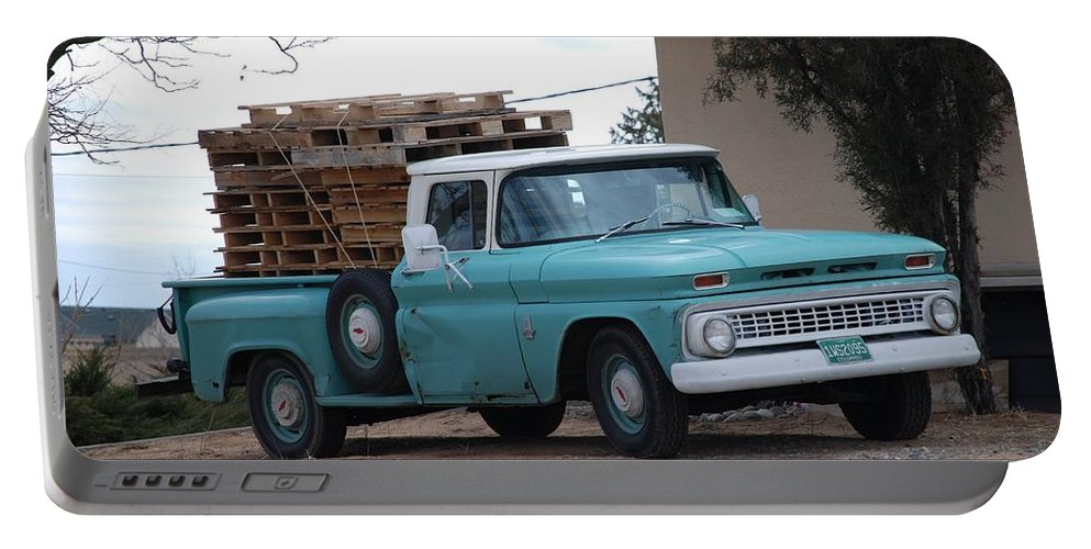 Old Truck Portable Battery Charger featuring the photograph Old Chevy by Rob Hans