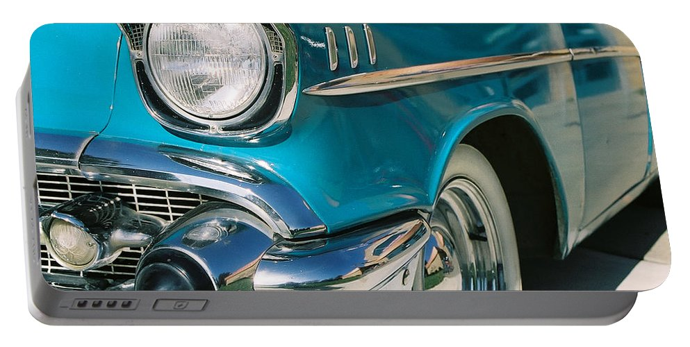 Chevy Portable Battery Charger featuring the photograph Old Chevy by Steve Karol