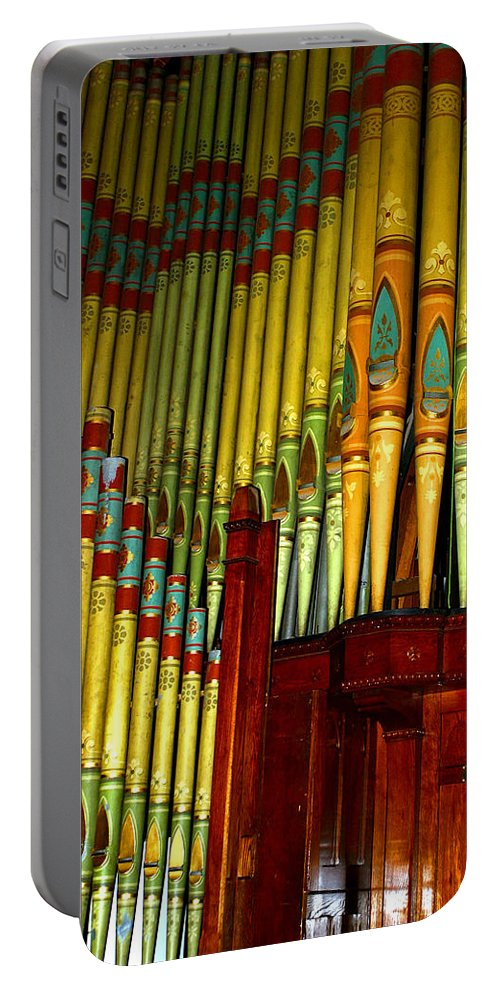 Organ Portable Battery Charger featuring the photograph Old Church Organ by Anthony Jones