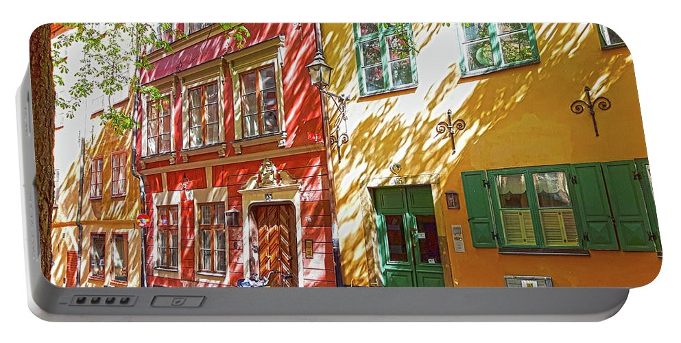 Old City Portable Battery Charger featuring the digital art Old City by Thomas M Pikolin