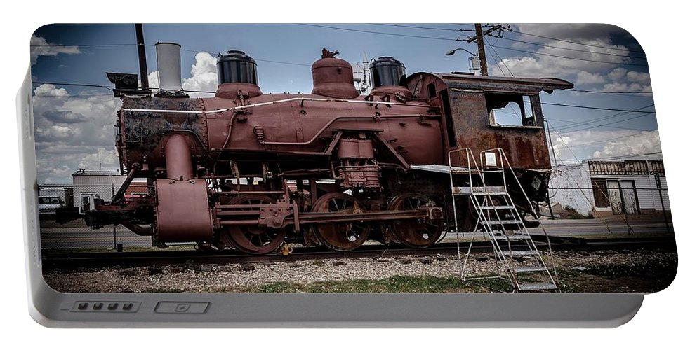 Portable Battery Charger featuring the photograph Old Clovis Train by Anthony Lindsay