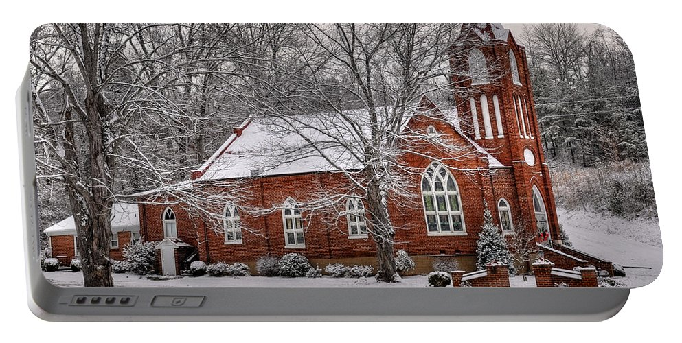 Old Country Church Portable Battery Charger featuring the photograph Old Country Church by Todd Hostetter