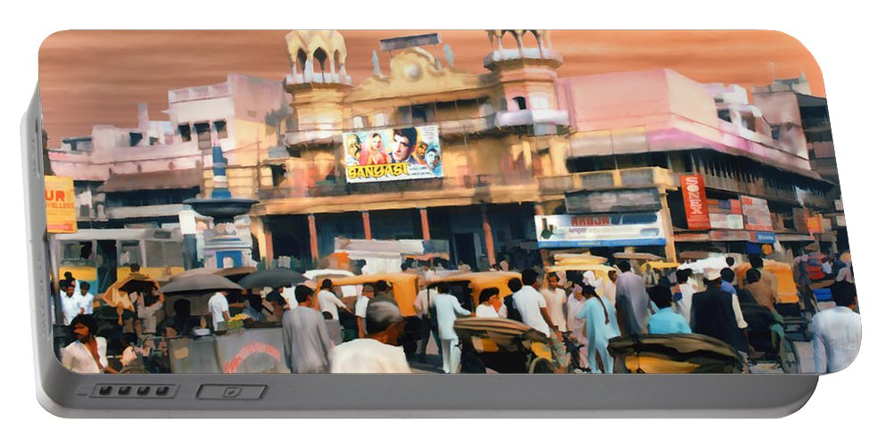 India Portable Battery Charger featuring the photograph Old Dehli by Kurt Van Wagner