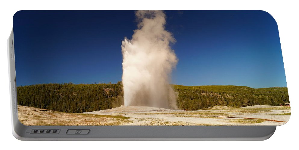 Geyser Portable Battery Charger featuring the photograph Old Faithful IIi by Beth Collins