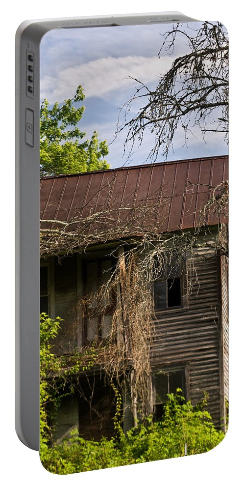 Old Portable Battery Charger featuring the photograph Old Forgotten Farm House by Douglas Barnett