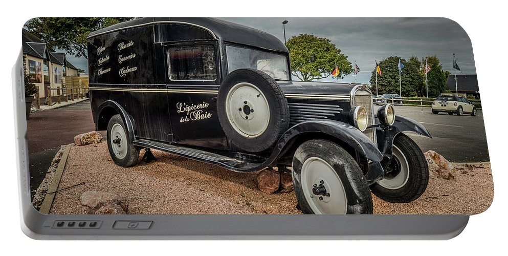 Portable Battery Charger featuring the photograph Old French Truck by Jason Steele